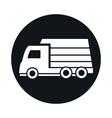 car lorry van transport vehicle block and flat vector image vector image