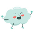 cartoon cloud vector image vector image