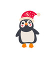christmas penguin simple single flat icon vector image vector image