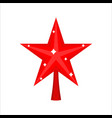 christmas red star for tree decoration for vector image vector image