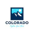 colorado mountain scenery logo vector image vector image