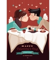 Couple in love celebrating Valentines Day vector image vector image
