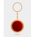 creative of metal keychains vector image vector image