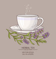 cup of lavender tea vector image