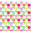 daisy color pattern vector image vector image