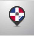 dominican republic map pin vector image vector image
