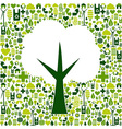 Eco tree symbol with green icons vector image vector image