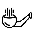 equipment smoking pipe icon outline style vector image vector image