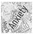 fear anxiety Word Cloud Concept vector image vector image
