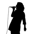 female singing vector image vector image