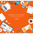 Financial statement and daily vector image vector image