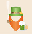 flat design icon on saint patricks day character vector image vector image