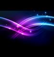 glowing wave smoke vector image