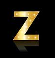 golden letter z shiny symbol vector image vector image