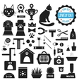 great set icons about lovely cat vector image vector image