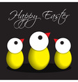 greeting card Easter chicken eggs vector image vector image