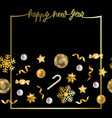 happy new year greeting card with winter holiday vector image vector image