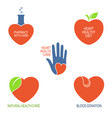heart health care icons vector image vector image