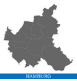 high quality map city germany vector image