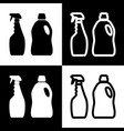 household chemical bottles sign black and vector image vector image