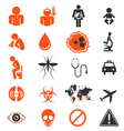 Icon set of Zika virus Infection vector image vector image
