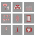 icons set in flat style cells viruses teeth vector image vector image