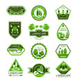 landscape design badge set of park and garden tree vector image vector image