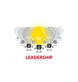 leader with light bulb and bulb team vector image vector image