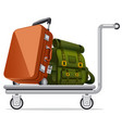 luggage on trolley vector image