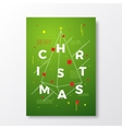 Merry Christmas Abstract Swiss Style vector image