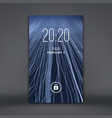 modern lock screen for mobile apps smartphone 3d vector image vector image