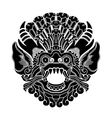 mythological ethnic gods head vector image vector image