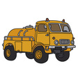 Old small tank truck vector image vector image