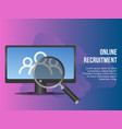 online recruitment concept design template vector image vector image