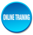 online training blue round flat isolated push vector image