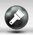 Paint Brush Icon button logo symbol concept vector image