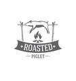 pig roasted emblem vector image