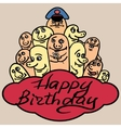 PrintGreeting card happy birthday Small funny vector image