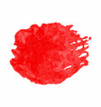 red watercolor stain isolated on white background vector image