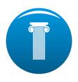 roman column icon blue vector image
