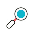 searching social media icon line and fill vector image