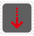 Send Down Rounded Square Button vector image
