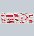 set national flag poland in vector image