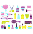 set of beauty salon icons vector image vector image