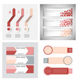 set of infographic arrows with 3 step up options vector image