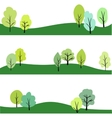 set of landscape with trees vector image
