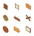 signboard icons set isometric style vector image vector image