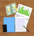 statistics of wages and annual household budget vector image vector image