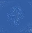 thunder and bolt lighting polygonal flash logo vector image