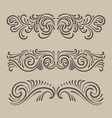 tracery ornament vintage pattern vector image